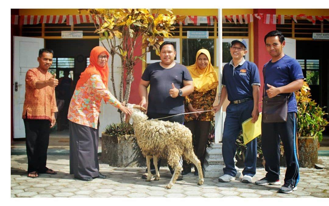 Penyaluran Hewan Qurban SMK Muhammadiyah 1 Moyudan