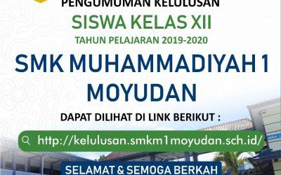 PENGUMUMAN KELULUSAN SISWA KELAS XII TH 2019/2020