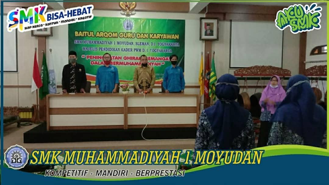 Baitul Arqom Guru & Karyawan 2020. SMK Muhammadiyah 1 Moyudan